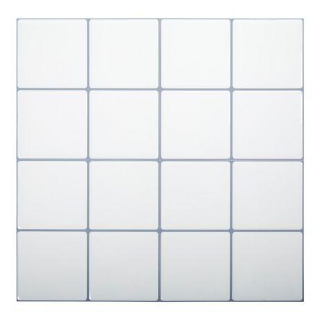 truu design, white square self-adhesive peel and stick