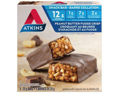 Atkins Day Break Peanut Butter Fudge Crisp Flavoured Snack Bars - image 1 of 2