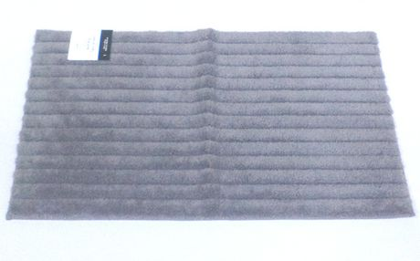 c0c1fbbaab0b MAINSTAYS Grey Striped Bath Rug - image 1 of 1 ...