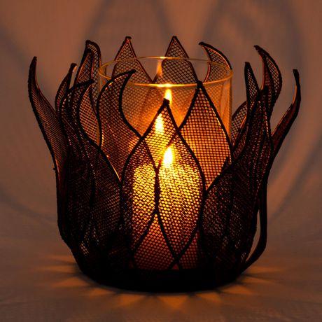 Truu Design, Beautiful Lotus Iron Candle Holder - image 4 of 4