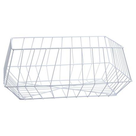 Truu Design, Paniers de rangement trapézoïdal en fer, ensemble de 2 - image 2 de 5