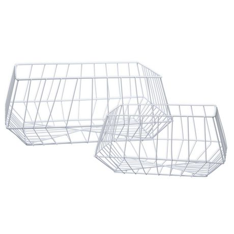 Truu Design, Paniers de rangement trapézoïdal en fer, ensemble de 2 - image 1 de 5