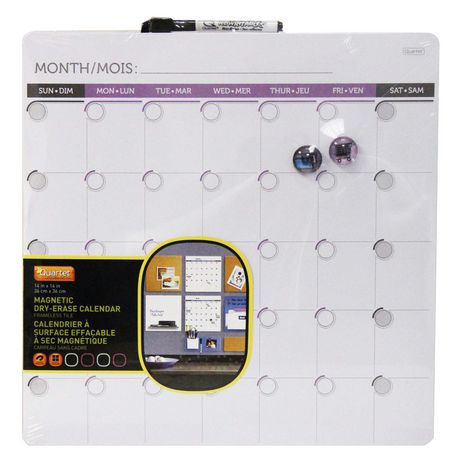 Quartet Magnetic Dry Erase Calendar Walmart Canada