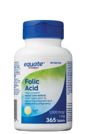 Acide folique Equate, 1 mg - image 1 de 1