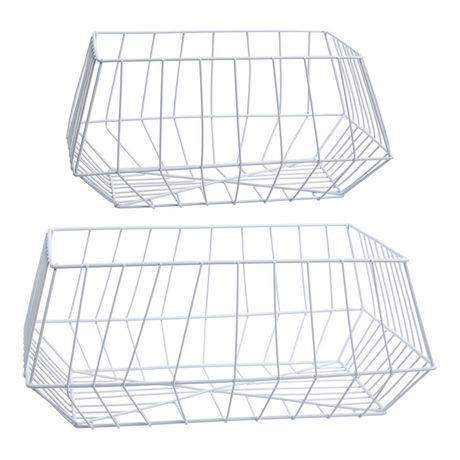 Truu Design, Paniers de rangement trapézoïdal en fer, ensemble de 2 - image 4 de 5