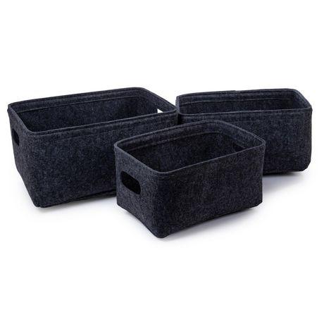 Truu Design, Felt Storage Baskets, Set of 3 - image 1 of 4