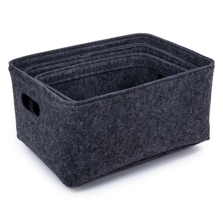 Truu Design, Felt Storage Baskets, Set of 3 - image 3 of 4