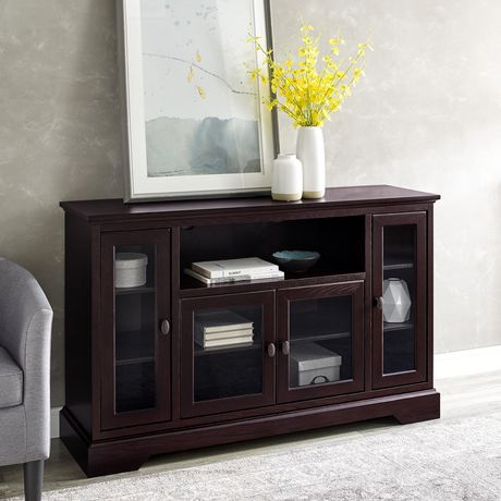 WE Furniture Walker Edison Espresso Wood Highboy TV Media Stand Storage Console - image 1 of 5