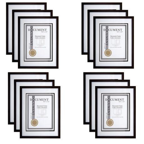 Truu Design, Black Woodgrain Document Frame Set | Walmart Canada