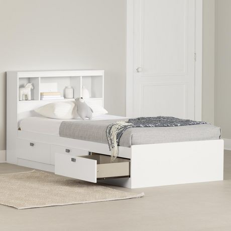 twin storage bed. Modren Bed South Shore Spark Twin Storage Bed And Bookcase Headboard  Walmart Canada And