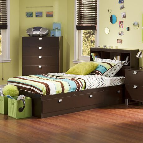 South Shore Spark Twin Storage Bed and Bookcase Headboard - image 1 of 5
