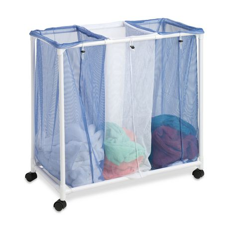 Honey can do 3 bag mesh laundry sorter - Hamper for dirty clothes ...