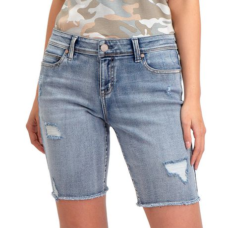 Jordache Women's Bermuda Short Light Enzyme 14