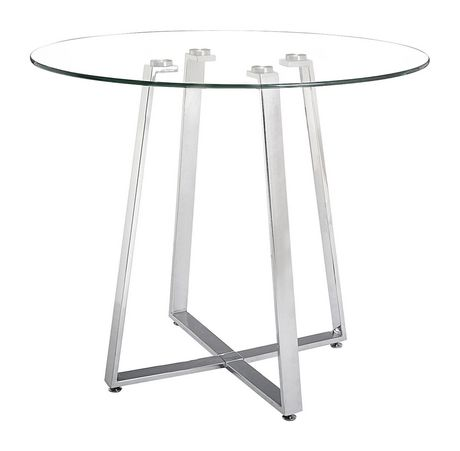 5a75ccb076bb0 Zuo Modern One Piece Lemon Drop Chrome Counter Table - image 1 of 1 ...