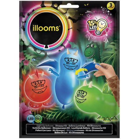 Illooms Make Your Own Illoomasaurus Led Light Up Balloons Walmart