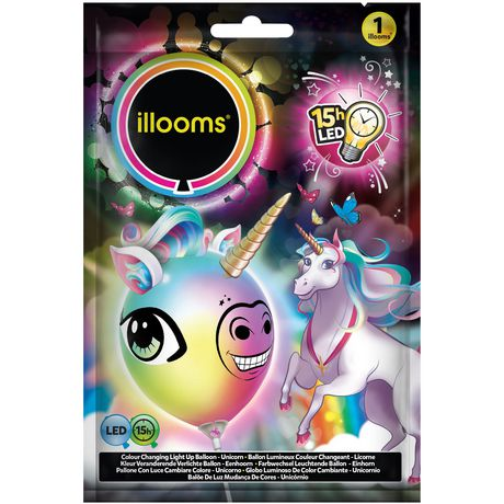 Illooms Make Your Own Unicorn Head Led Light Up Balloon Walmart Canada