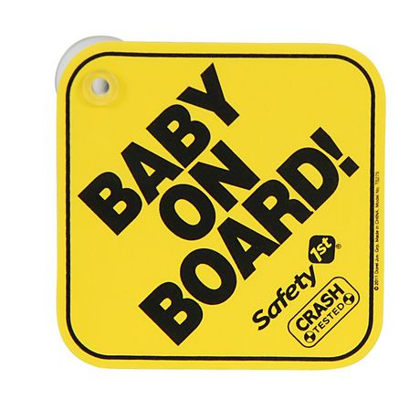 Safety 1st Foam Mom (to Be) on Board / Baby on Board Sign ...