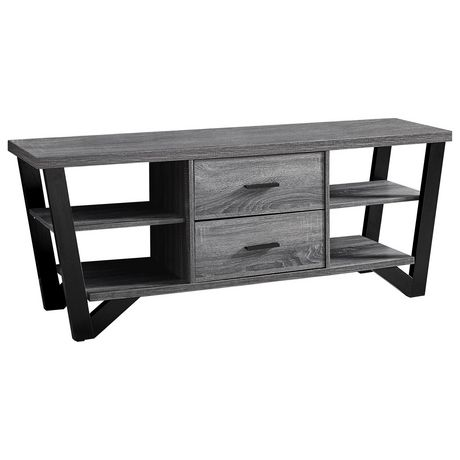 Monarch Specialties Grey TV Stand - image 2 of 3