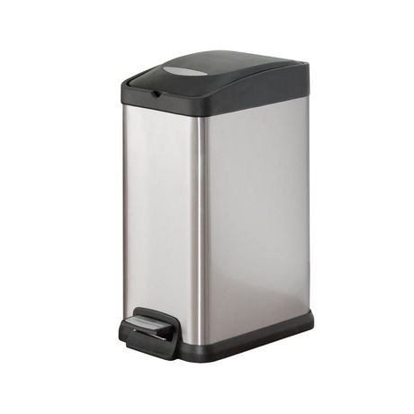 hometrends 15 l Rectangular Pedal Trash Can - image 1 of 1