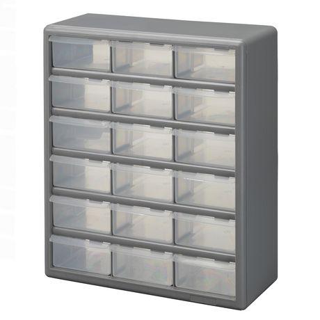 Stack-On 18 Bin Plastic Drawer Cabinet - image 1 of 2