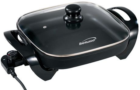 Brentwood 12 Non Stick Electric Skillet With Glass Lid