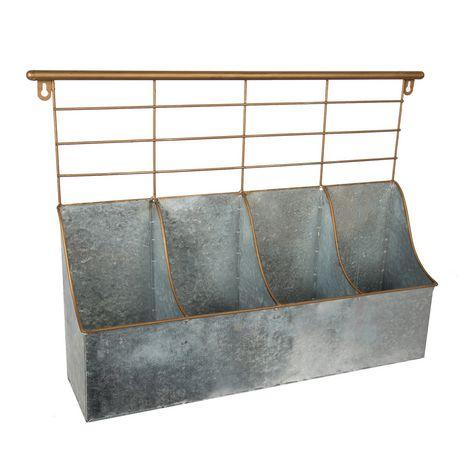 Truu Design Boite de rangement 4 compartiments avec rack - image 1 de 6