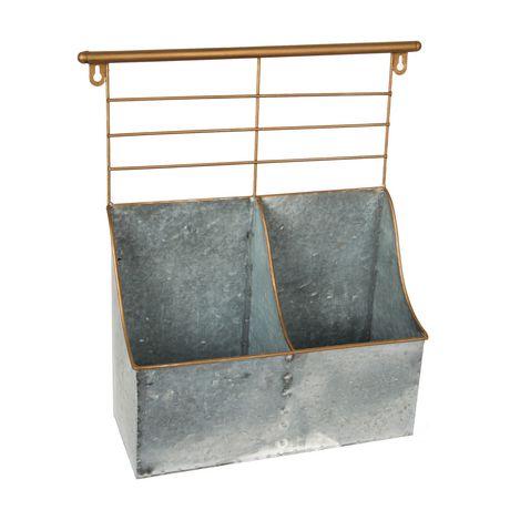 Truu Design Bac de rangement 2 compartiments avec rack - image 1 de 5