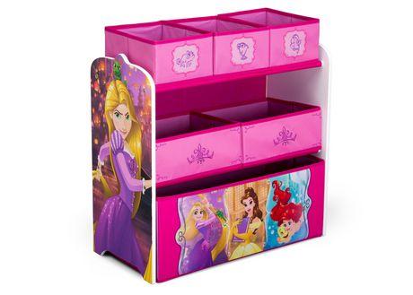 Disney Princess Multi-Bin Toy Organizer - image 1 of 3