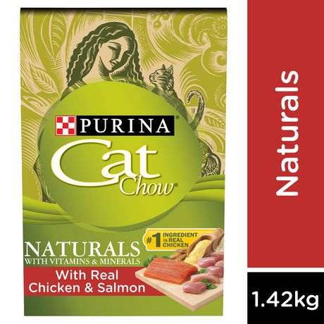 Cat Chow Naturals Dry Cat Food; Real Chicken & Salmon - image 1 of 8