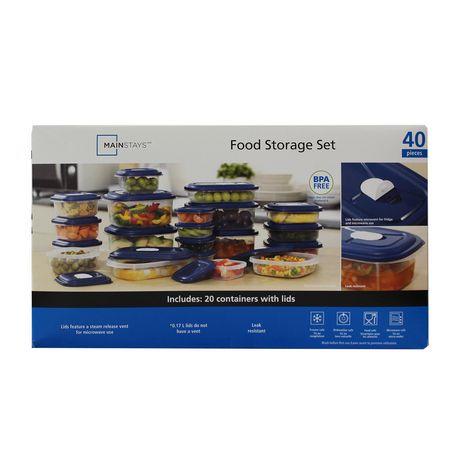Ensemble de 40 pièces boîtes pour conservation des aliments de Mainstays - image 1 de 1