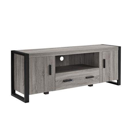 Meuble pour t l viseur en bois gris de we furniture 60 po - Meuble pour televiseur ...