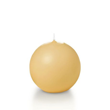 """Yummi 2.8"""" Sphere Candles - 12 - Caramel - image 1 of 1"""