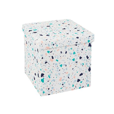 15 Inch Collapsible Storage Ottoman Terrazzo - image 1 of 3