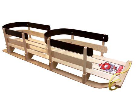 Traîneau double pour enfants en bois de JAB Recreational - image 2 de 2