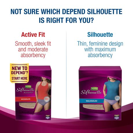 Depend Silhouette Incontinence Underwear for Women, Maximum Absorbency - image 6 of 6