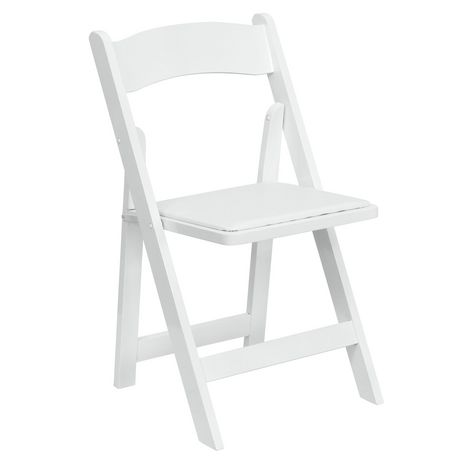 Flash Furniture Hercules Series White Wood Folding Chair with Vinyl Padded Seat - image 1 of 7