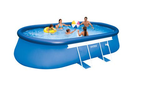intex 18ft x 10ft x 42in oval frame pool set walmart canada. Black Bedroom Furniture Sets. Home Design Ideas