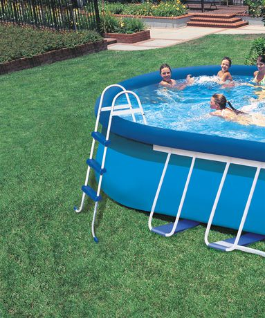 intex 18ft x 10ft x 42in oval frame pool set. Black Bedroom Furniture Sets. Home Design Ideas