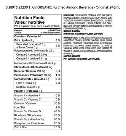 Great Value Organic Original Almond Drink - image 3 of 3