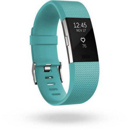 Fitbit Charge 2 Black Silver Small Activity Tracker by Fitbit