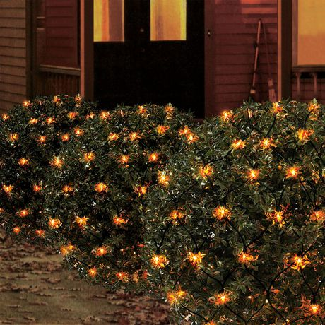 Way to celebrate! 4' x 4' 100-Count Incandescent Net Halloween Lights, Orange - image 2 of 4