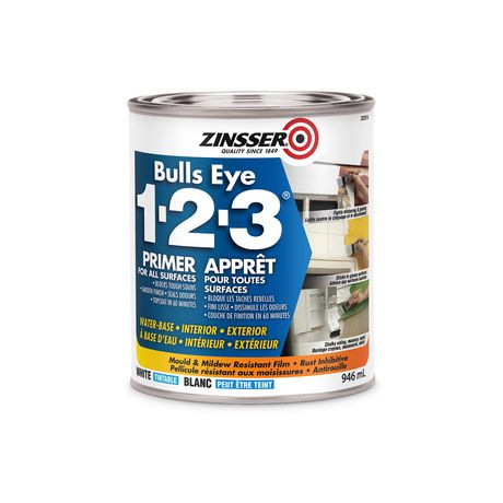 Zinsser Bulls Eye 1-2-3 White Primer - image 1 of 1
