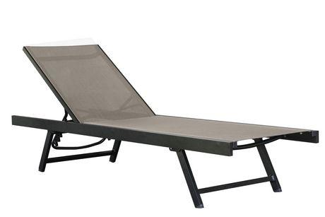 Vivere aluminum urban sun lounger - Sun chairs walmart ...