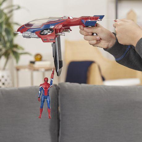 Spider-Man : Far From Home Arachno-jet avec Spider-Man – véhicule jouet de Spider-Man avec figurine articulée de Spider-Man - image 8 de 9