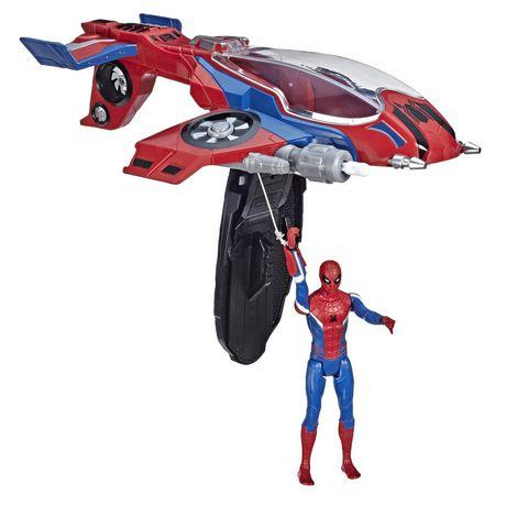 Spider-Man : Far From Home Arachno-jet avec Spider-Man – véhicule jouet de Spider-Man avec figurine articulée de Spider-Man - image 4 de 9