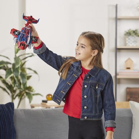 Spider-Man : Far From Home Arachno-jet avec Spider-Man – véhicule jouet de Spider-Man avec figurine articulée de Spider-Man - image 5 de 9