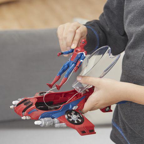 Spider-Man : Far From Home Arachno-jet avec Spider-Man – véhicule jouet de Spider-Man avec figurine articulée de Spider-Man - image 9 de 9