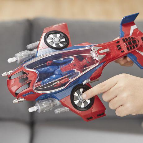 Spider-Man : Far From Home Arachno-jet avec Spider-Man – véhicule jouet de Spider-Man avec figurine articulée de Spider-Man - image 6 de 9