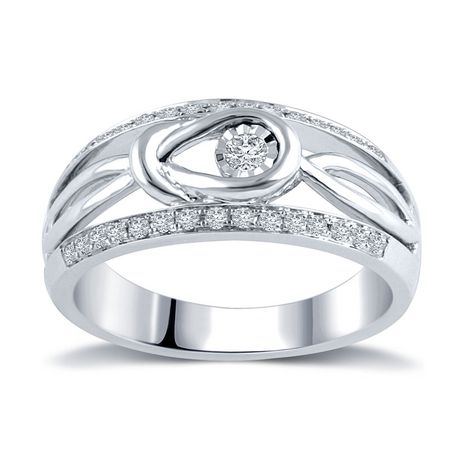 0.23 Ct T.W. Diamond Fashion Ring in Sterling Silver - image 1 of 4