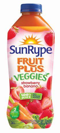 SunRype Fruit Plus Veggies Strawberry Banana Juice - image 1 of 2